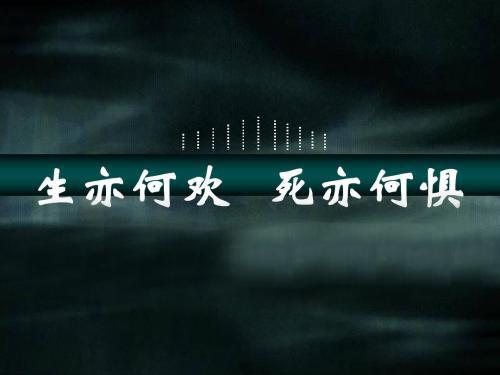 """""""生亦何欢,死亦何惧""""是什么意思?"""