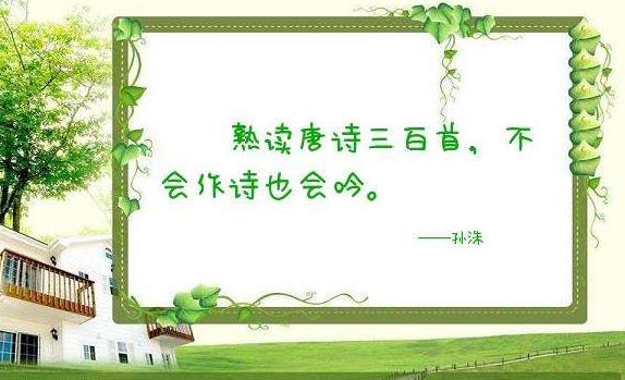 """""""熟读唐诗三百首,不会作诗也会吟""""是什么意思?"""