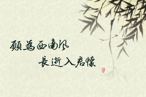 """""""愿为西南风,长逝入君怀""""是什么意思?"""