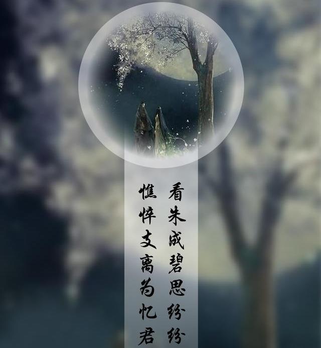"""""""看朱成碧思纷纷,憔悴支离为忆君""""是什么意思?"""