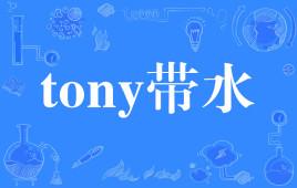 """【网络用语】""""tony带水""""是什么意思?"""