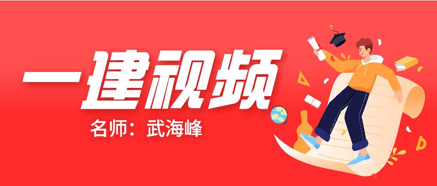 """021年一建武海峰法规视频讲义全集【强化精讲】"""""""